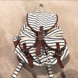 Forever 21 Striped Canvas Backpack